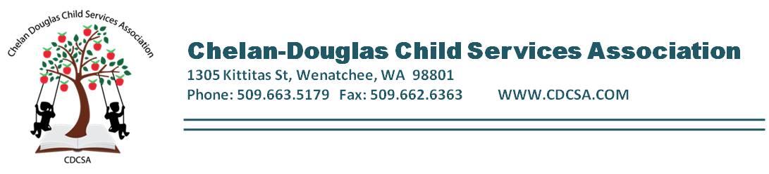 Chelan-Douglas Child Services Assoc's Logo